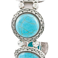 Gypsy Stone Bracelet in Turquoise