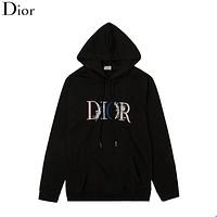 Dior embroidered floral letters crew neck hoodie