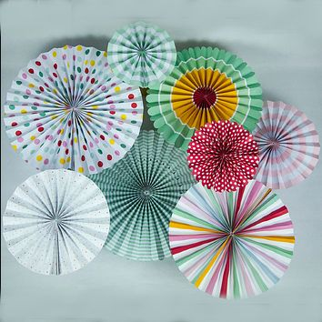 BLOWOUT Colorful Paper Flower Pinwheel Backdrop Pinwheel Party Wall Decoration Combo Kit for Birthday Parties, Easter or any festive celebration