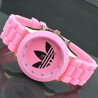 Perfect Adidas Woman Men Simple Quartz Watches Wrist Watch