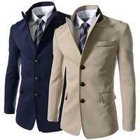 Modern Men Design Three Buttons Blazer Jacket