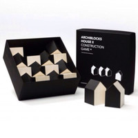 Cinqpoints - Archiblocks wooden house blocks in black/natural - Scout & Co