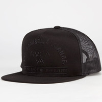 Rvca Arched Mens Trucker Hat Black One Size For Men 23516610001