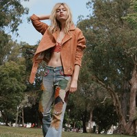 Free People Vintage 1960s Hand Patched Sailor Flares