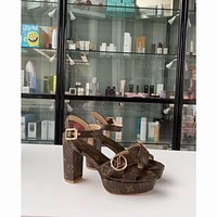 lv louis vuitton women casual shoes boots fashionable casual leather women heels sandal shoes 40