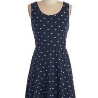 ModCloth Quirky Short Length Sleeveless A-line You're the Swan for Me Dress