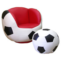 You should see this Soccer Chair & Ottoman Set in Black & White on Daily Sales!