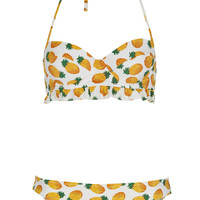 White Pineapple Bikini - Swimwear - Clothing - Topshop