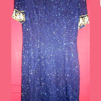 Vintage 90s Glam dress by Laurence Kazar. Size M