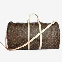 LV Fashion Leather Embroidery Luggage Travel Bags Tote Handbag Women