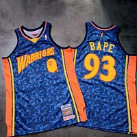 Bape 93 X Mitchell & Ness Warriors Basketball Jersey