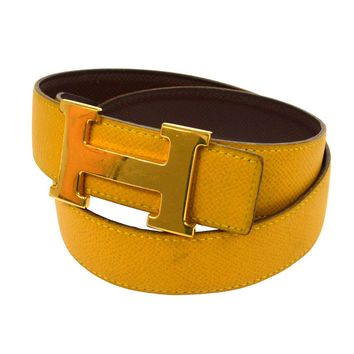 hermes belt, men hermes belt, women hermes belt, belt, belt hermes, belts for men, belts for women, Leather belt, men belt, mens belt, women belt,Auth HERMES Vintage H Logos Buckle Constance Reversible Belt Leather V21168