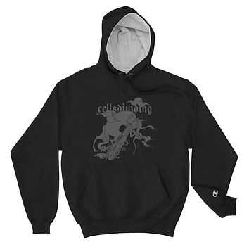 Cat And Snake, Champion Hoodie, Black