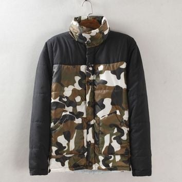 Camouflage Cotton Men Jacket [6541173187]
