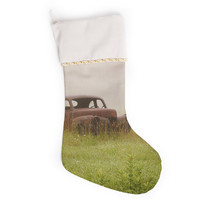 "Angie Turner ""Forgotten Car"" Grass Christmas Stocking"