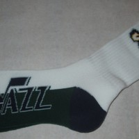 Utah Jazz #506 White Crew Socks Adult Size 10-13