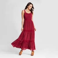 Women's Tiered Woven Maxi with Crochet Straps - Knox Rose™
