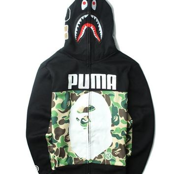 Puma&Shark Fashion Men Hats Double Sided Jacket [9511603079]
