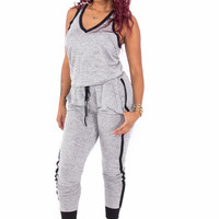 Peppered Knit Jumpsuit