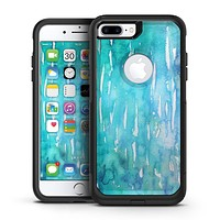 Splattered Blue 453 Absorbed Watercolor Texture - iPhone 7 or 7 Plus Commuter Case Skin Kit