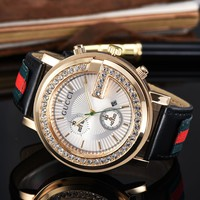 Gucci Women Fashion Diamonds Quartz Movement Wristwatch Watch