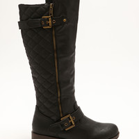 Double Side Buckle Knee High Boots