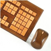 Impecca Usa Bamboo Wirelesskeyboard & Mous: Computers & Accessories