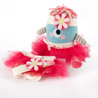 """Baby Aspen """"Clara the Closet Monster"""" Baby Bloomers, Headband and Monster Plush Toy Gift Set"""