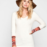 Others Follow Kenzie Ii Womens Hooded Thermal Cream  In Sizes