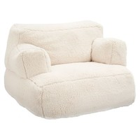 Ivory Sherpa Faux Fur Eco Lounger