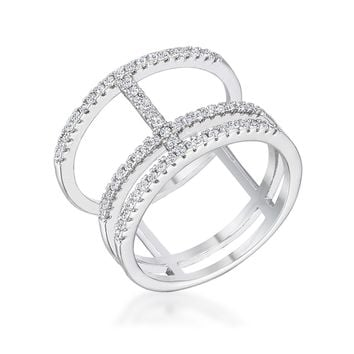 Silver Double Wrap Parallel Ring