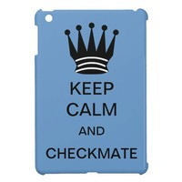 KEEP CALM AND CHECKMATE IPAD MINI CASE from Zazzle.com
