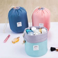 New makeup bag, nylon travel toilet bag, nylon drum cosmetic bag Cosmetic Cases for women