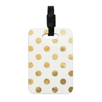 """KESS Original """"Scattered Gold"""" Decorative Luggage Tag"""