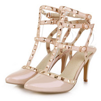 High heels for prom stud metal hollow fashion women shoes Z-F97-2