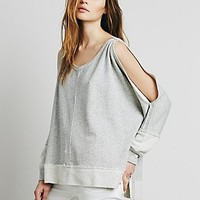 Free People Womens Cold Shoulder Pullover