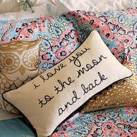 Moon And Back Throw Pillow