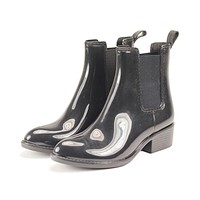 Jeffrey Campbell for Women: Stormy Black Rain Boot