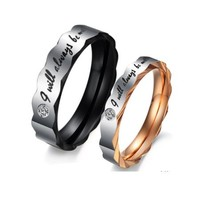 """Be With You"" Couples Rings - C-RIN-1060"