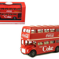 1960 Routemaster London Double Decker Bus Coca-Cola 1-64 Diecast Model by Motorcity Classics