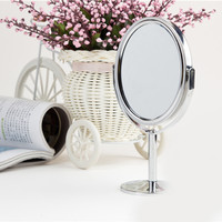 Mini Dual Side Normal Magnifying Oval Stand Mirror 3 inch Make Up Cosmetic Mirror for Lady Girl