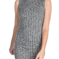 Ruched Ribbed Dress-FINAL SALE