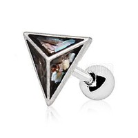 Abalone Shell Pyramid Cartilage Earring