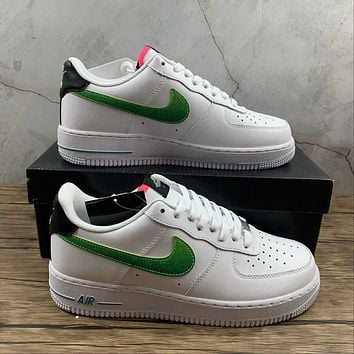 Morechoice Tuhy Nike Air Force 1 07 Lv8 White Aquamarine Low Sneakers Casual Skaet Shoes DJ5148-100