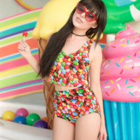 Jelly Bean Candy Two Piece Set