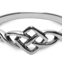 Petite Celtic Ring in sterling silver
