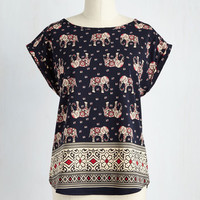 Boho Mid-length Cap Sleeves Reign on My Parade Top
