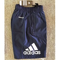 Adidas Summer New Fashion Letter Print Sports Leisure Shorts Men Blue