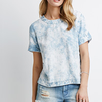 Bleach Wash Chambray Top