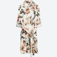 PRINTED TUNIC WITH SLITS